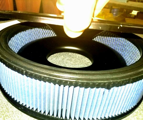 "14"" Round Dirt Late model / Modified Air Filter and Base (Low Profile 1.5 "") 3 piece kit"