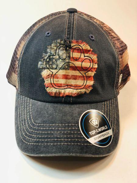 Americana Pawprint Cap