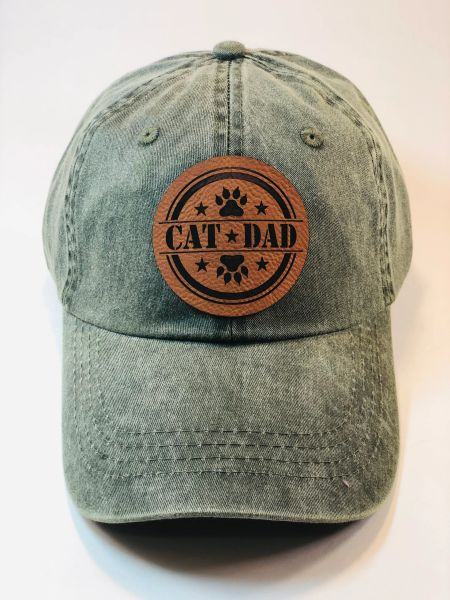 Cat Dad Pigment Dyed Cap