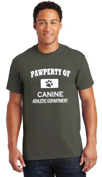 Pawperty of Canine Athletic Department Unisex T-shirt