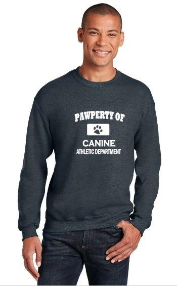 Pawperty of Canine Athletic Department Sweatshirt/Hoodie