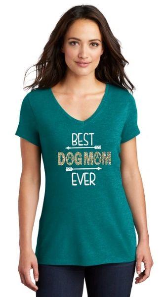 Best Dog Mom Ever! Ladies T-shirt