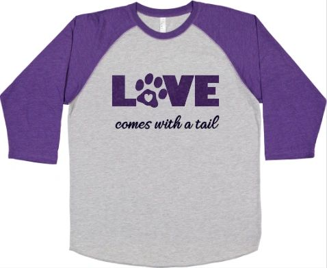 Love Comes with a Tail Unisex Baseball Shirt
