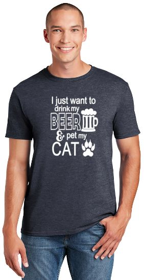 I Just Want to Drink My Beer and Pet My Cat Unisex T-shirt
