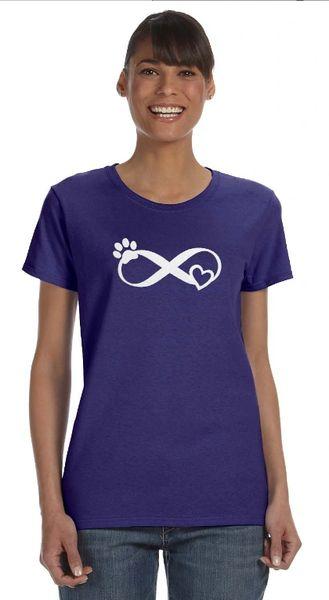 Infinity Love Pawprint Women's T-shirt/Unisex Hoodie