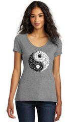 Yin Yang Animal Paws Ladies T-shirt