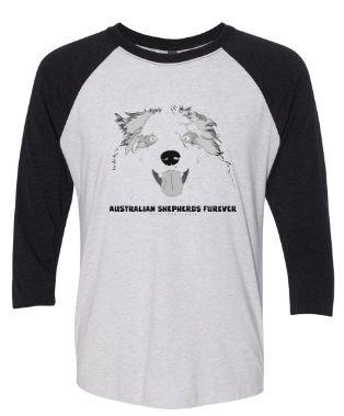 Australian Shepherds Furever UNISEX Baseball Style Jersey