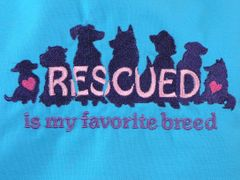 Rescued is My Favorite Breed Adjustable Apron