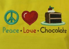 Peace, Love, & Chocolate Adjustable Chef's Apron