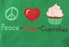 Peace Love & Cupcakes Adjustable Chef's Apron