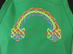 Irish/Celtic Rainbow Adjustable Chef's Apron