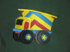 Dump Truck Chef's Apron for Kids