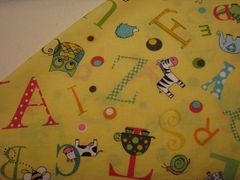 NeNee's Soft Blankies Animal Alphabet in Yellow