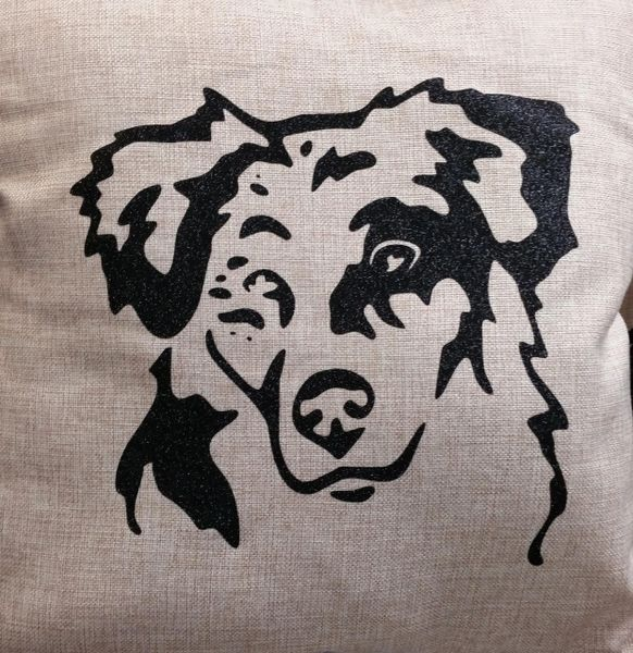 "Australian Shepherd Face 18"" Pillow/Pillowcase"