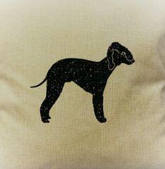 """Bedlington Terrier 18"""" Pillow/Pillowcase"""