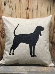 """Black and Tan Coonhound 18"""" Pillow/Pillowcase"""