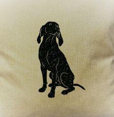 """Blue Tick Hound 18"""" Pillow/Pillowcase"""