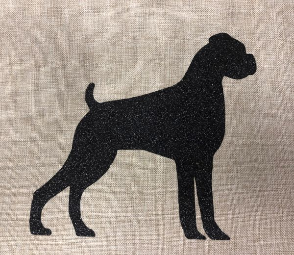 "Boxer, Natural Ears 18"" Pillow/Pillowcase"