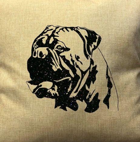 "Bullmastiff Face 18"" Pillow/Pillowcase"