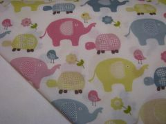 NeNee's Soft Blankies Pastel Elephants & Turtles