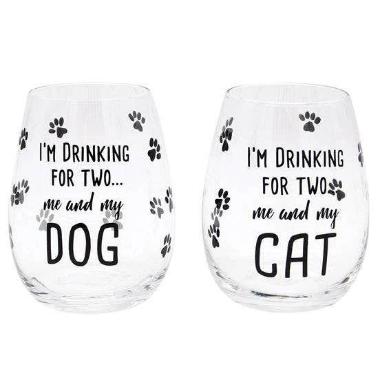 Pet Stemless Wine Glass