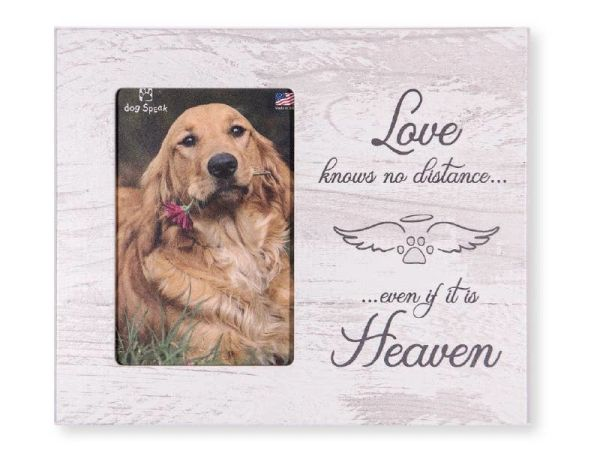 Pet Memorial: Love knows no distance... Vertical Frame