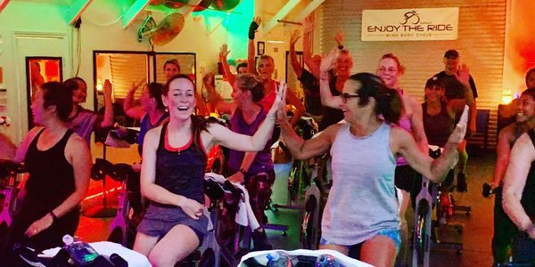 Spin Class on Maui. A Maui workout gym.