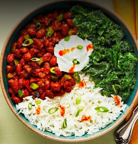 Louisiana Red Beans & Rice Meatless Menu Monday Delivery