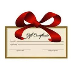 Gift Certicate