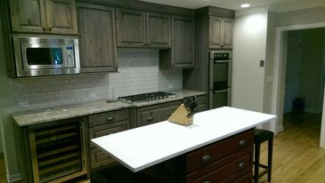 traditional kitchen remodel with custom cabinetry and kitchen island