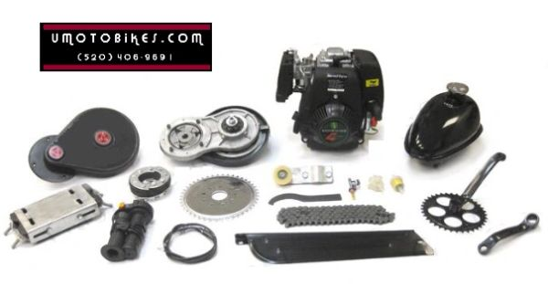 THUNDER (TM) 48CC 4-STROKE BICYCLE MOTOR KIT WITH BELT DRIVE TRANSMISSION