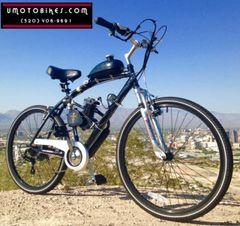 DO-IT-YOURSELF U-MOTO 2-STROKE 48CC BURNER (TM) HYBRID CRUISER MOTORIZED BICYCLE SYSTEM