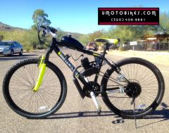"DO-IT-YOURSELF U-MOTO 29"" 2-STROKE STINGER (TM) MOTORIZED MOUNTAIN BIKE SYSTEM"