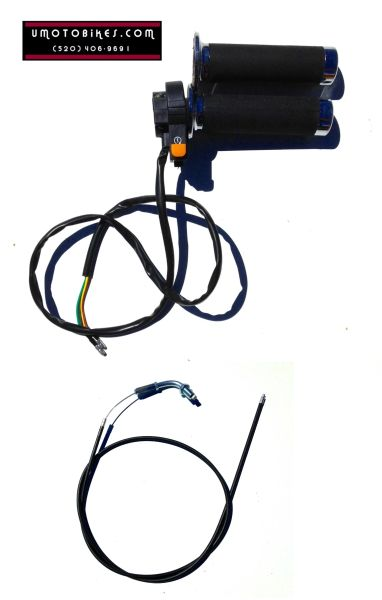 2-STROKE MOTORIZED BICYCLE THROTTLE ASSEMBLY WITH KILL SWITCH