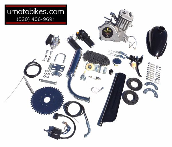 IGNITE (TM) 66/80CC 2-STROKE BICYCLE MOTOR KIT