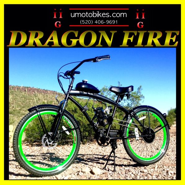 DO-IT-YOURSELF DRAGON FIRE 2G (TM) 2-STROKE EXTENDED CRUISER GREEN