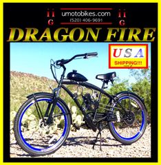 FULLY-MOTORIZED DRAGON FIRE 2G (TM) 2-STROKE EXTENDED CRUISER BLUE