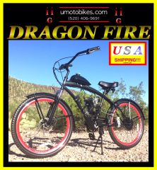 FULLY-MOTORIZED DRAGON FIRE 2G (TM) 2-STROKE EXTENDED CRUISER RED