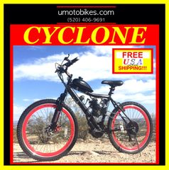 DO-IT-YOURSELF U-MOTO CYCLONE TM 2-STROKE MOTORIZED MOUNTAIN BIKE SYSTEM