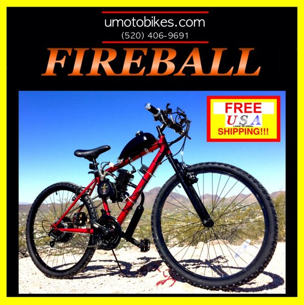 DO-IT-YOURSELF U-MOTO FIREBALL TM 2-STROKE MOTORIZED MOUNTAIN BIKE SYSTEM