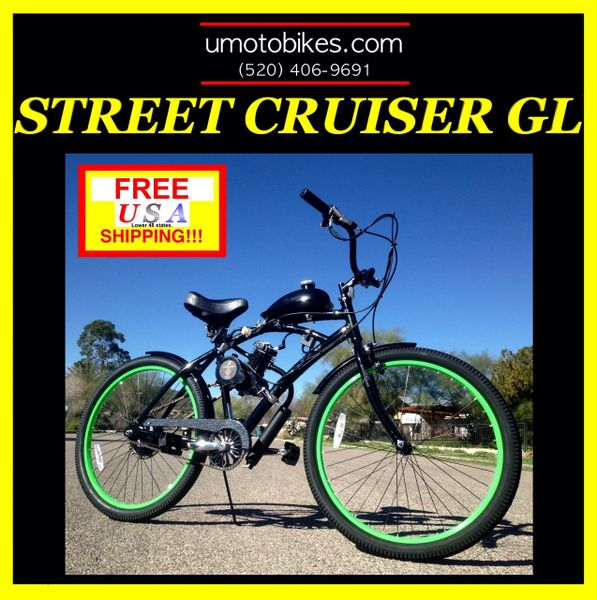 DO-IT-YOURSELF U-MOTO 2-STROKE STREET CRUISER GL MOTORIZED BICYCLE SYSTEM