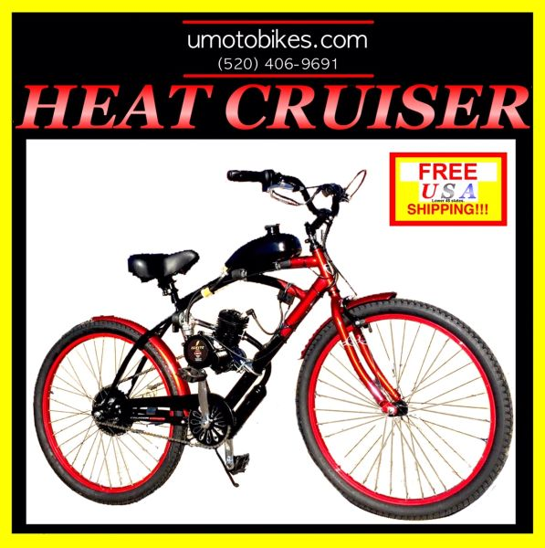 DO-IT-YOURSELF U-MOTO 2-STROKE HEAT CRUISER MOTORIZED BICYCLE SYSTEM