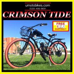 DO-IT-YOURSELF U-MOTO 2-STROKE CRIMSON TIDE (TM) CRUISER MOTORIZED BICYCLE SYSTEM
