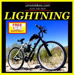 DO-IT-YOURSELF U-MOTO 2-STROKE LIGHTNING (TM) MOTORIZED MOUTAIN BIKE SYSTEM