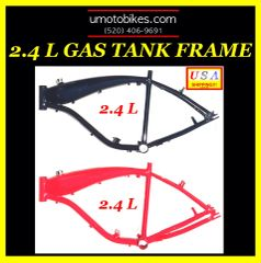 2.4 LITER GAS TANK FRAME FOR MOTORIZED BIKES