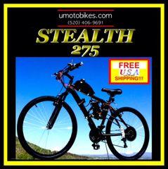 DO-IT-YOURSELF U-MOTO 2-STROKE STEALTH 275 (TM) MOTORIZED MOUNTAIN BIKE SYSTEM