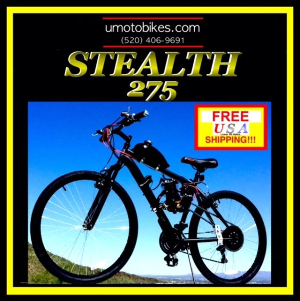 DO-IT-YOURSELF U-MOTO 2-STROKE STEALTH 275 (TM) MOTORIZED MOUNTAIN BIKE SYSTEM