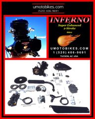 INFERNO (TM) 66/80CC SUPER ENHANCED 2-STROKE BICYCLE MOTOR KIT