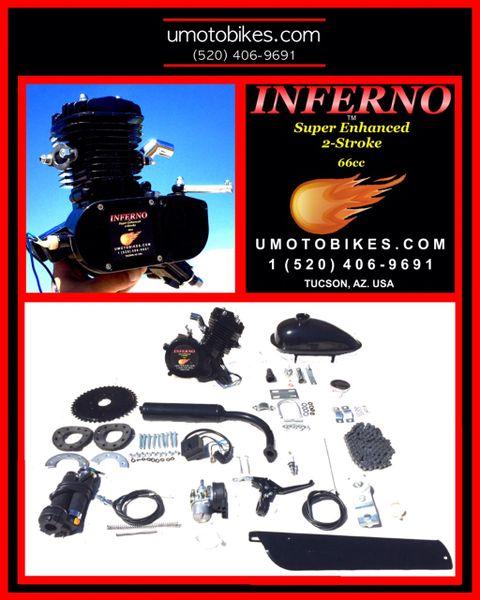 INFERNO (TM) 66/80CC SUPER ENHANCED 2-STROKE BICYCLE MOTOR KIT