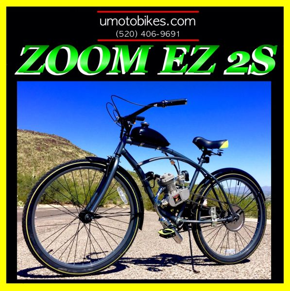 DO-IT-YOURSELF U-MOTO 2-STROKE ZOOM EZ 2S (TM) MOTORIZED BICYCLE SYSTEM